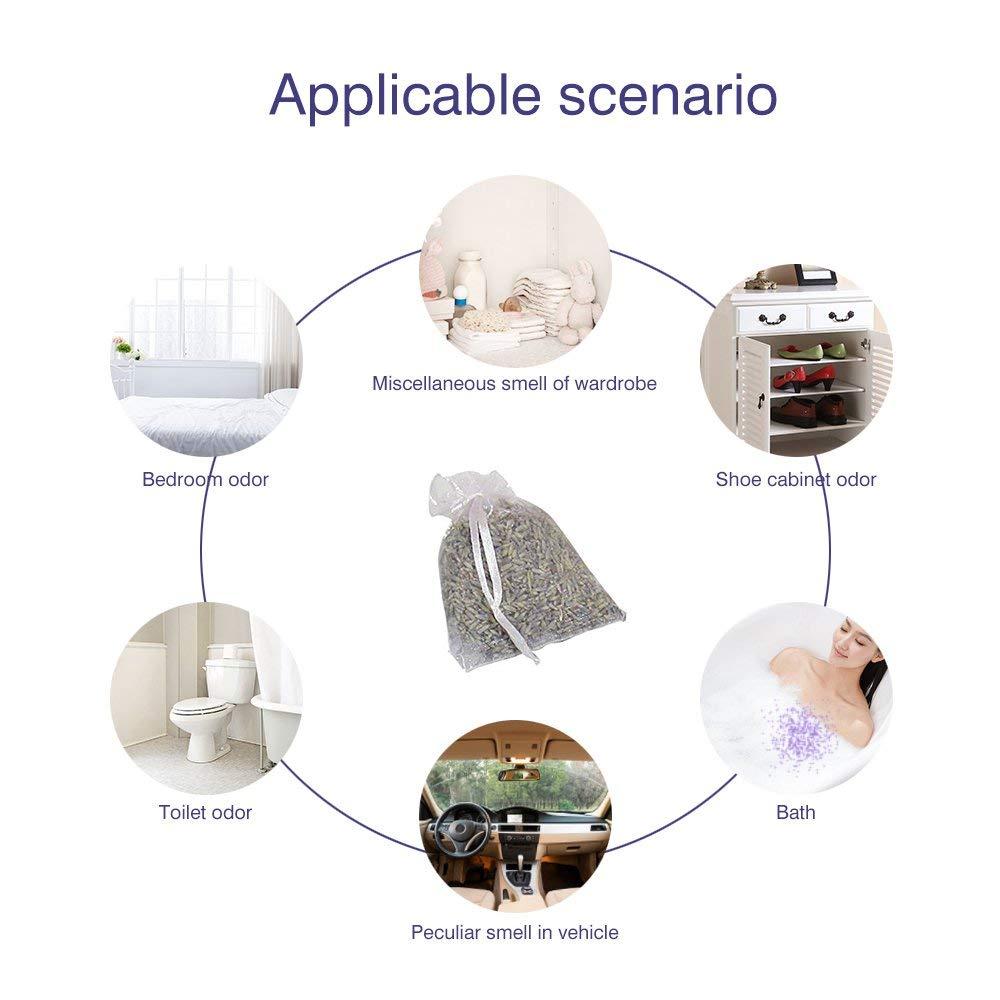 RoadRoma Laria aromatica di aromaterapia della Borsa della bustina del Fiore essiccata germoglio Naturale della Lavanda rinfresca Bianco
