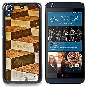"""For HTC Desire 626 Case , Triángulo Polígono Matemáticas Negro"""" - Diseño Patrón Teléfono Caso Cubierta Case Bumper Duro Protección Case Cover Funda"""