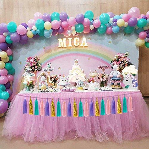 Unicorn Balloon Paper Tassel Garland Party Supplies Birthday