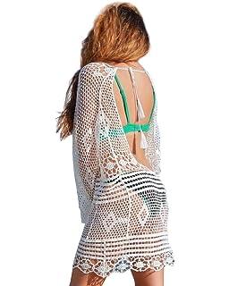 Jeasona Womens Bathing Suit Cover Up Crochet Lace Bikini Swimsuit Dress