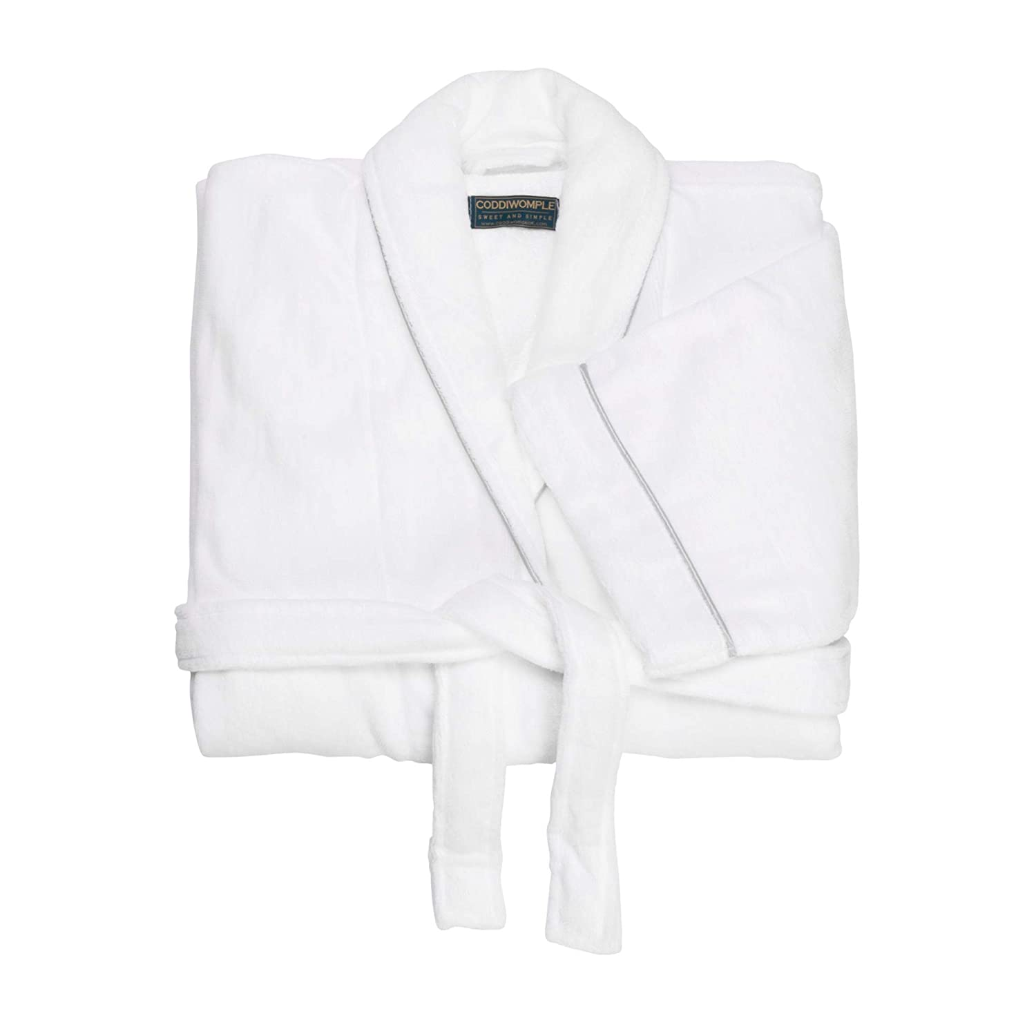 Luxury Bathrobes Coddiwomple Ltd, UK | 100% Cotton, Terry Velour Fabric, Comfortable Dressing Gown | Complimentary eco-Friendly Tote Bag Included