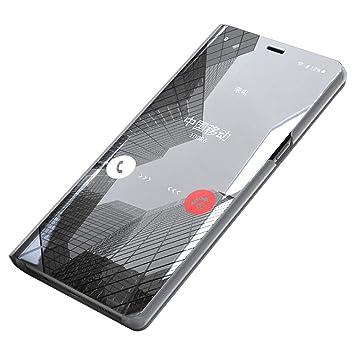 Funda Xiaomi Mi A2 Lite/Xiaomi Redmi 6 Pro, [Ventana de Vista Translúcida] Carcasa Delgada Libro de Cuero con Tapa Cartera de y Billetera Elegante ...