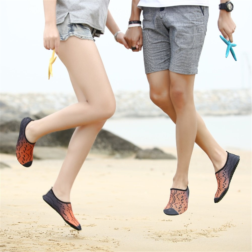 HUAN Lovers Swimming Diving Shoes Shoes Shoes Swim Yoga Beach Shoes Barefoot Sandals Soft Paste Skin Rafting Dance Shoes 38|G B07BPXJJQM 7ba53f