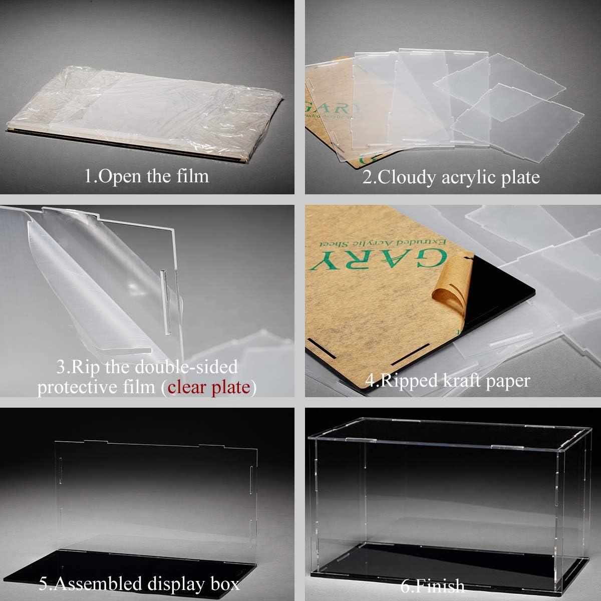 Bo/îte de rangement en acrylique transparent Lanscoery avec support de rangement pour figurines et jouets et objets de collection