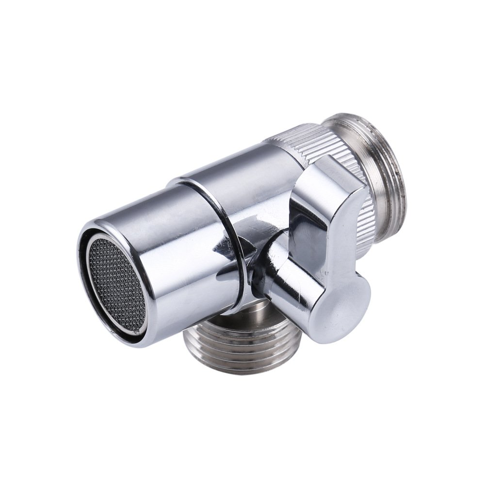 7Trees Brass Sink Valve Diverter Kitchen Bathroom Sink Faucet Replacement Part Faucet to Hose Adapter Splitter Polished Chrome