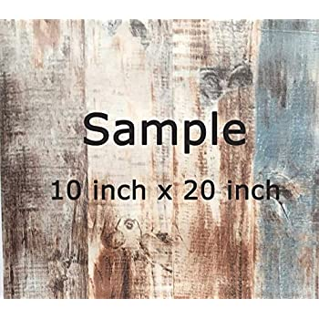 Country Rustic Brown Green Wood Panel Distressed Wallpaper Sample 10 Inch X 20