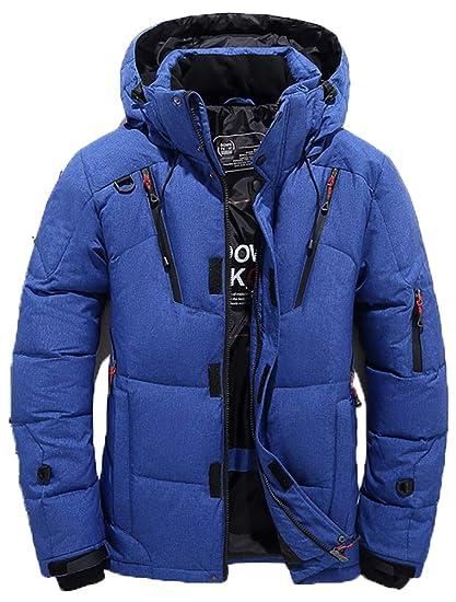 ROBO Chaquetas de Abrigo para Hombre Invierno Abajo Chaqueta de Bolsillo con Cremallera Abrigo de Cuello de Soporte Tops para Hombre: Amazon.es: Ropa y ...