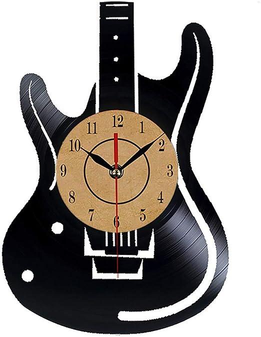 Reloj De Pared De Registro De Vinilo, Guitarra Eléctrica Patrones ...