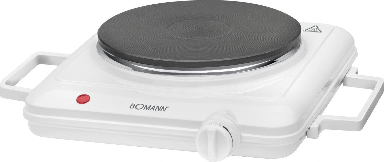 Bomann EKP 5027 CB Hornillo eléctrico de 18 cm diámetro con Asas, 1500 W, Blanco