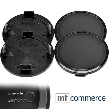 4 x 65 mm Buje tapas Llantas Tapa cojinetes de tapas Negro gewö LBT para Volkswagen