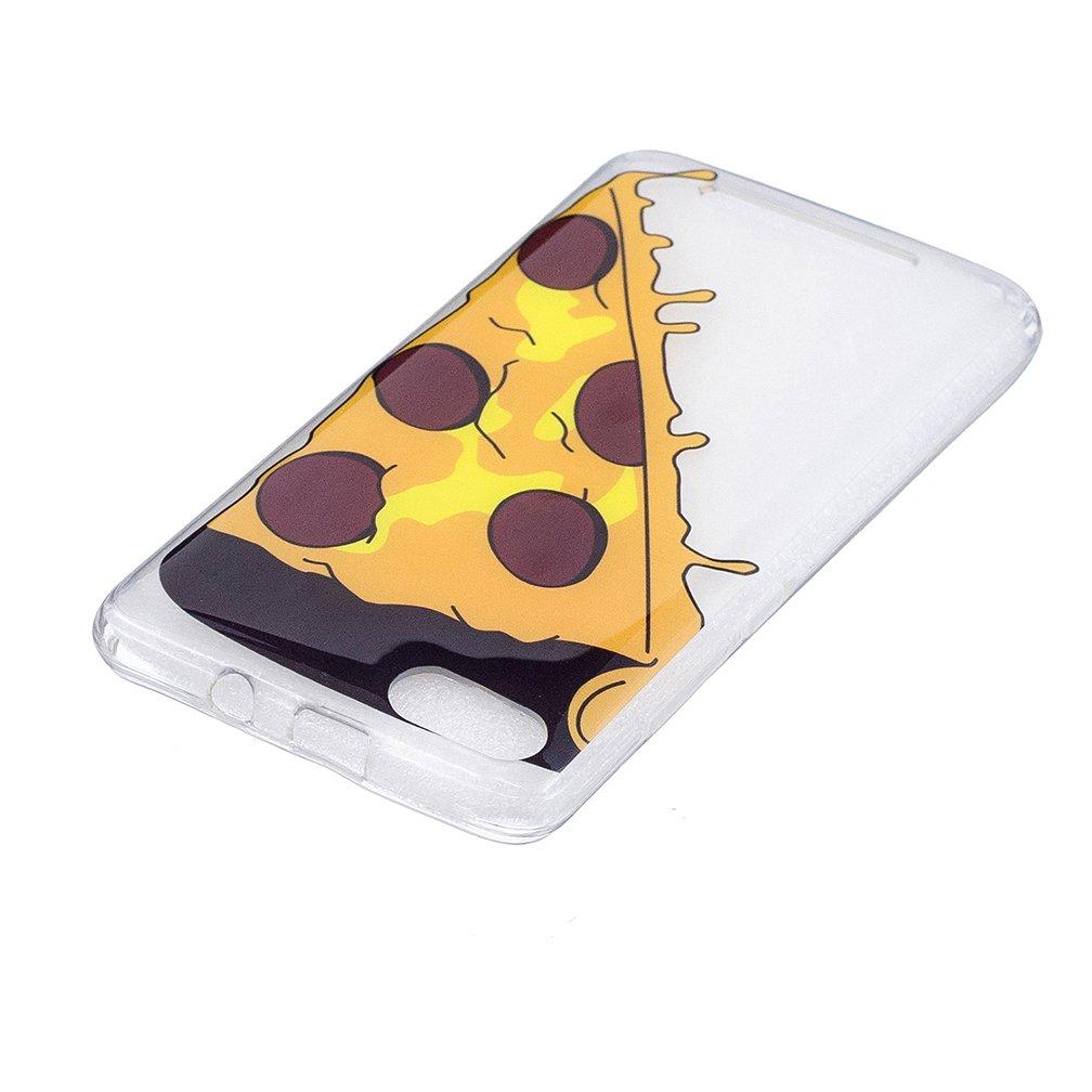 XiaoXiMi Coque Wiko Lenny 3 Housse Souple en Silicone TPU Etui Mince et L/ég/ère Coque Antichoc Durable /Étui Transparent avec Motif Unique Pizza