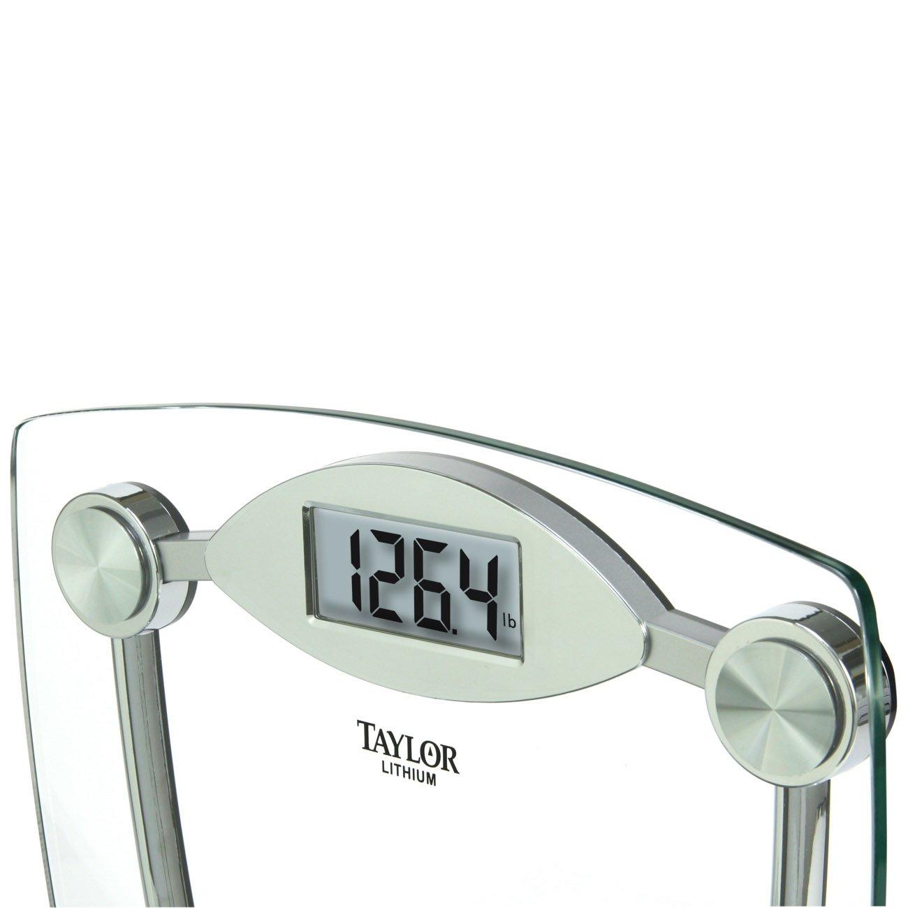 Taylor Glass And Chrome Digital Bathroom Scale 400 Lb Capacity Ebay