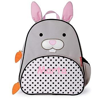 Mochila guardería conejo personalizada con el nombre del bebé bordado(29 x 26 x11 cm.): Amazon.es: Bebé