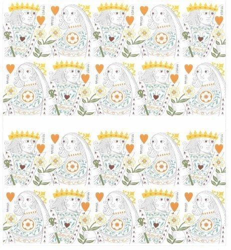 Love: King & Queen of Hearts Booklet of Twenty 44 Cents Stamps Scott 4404-05
