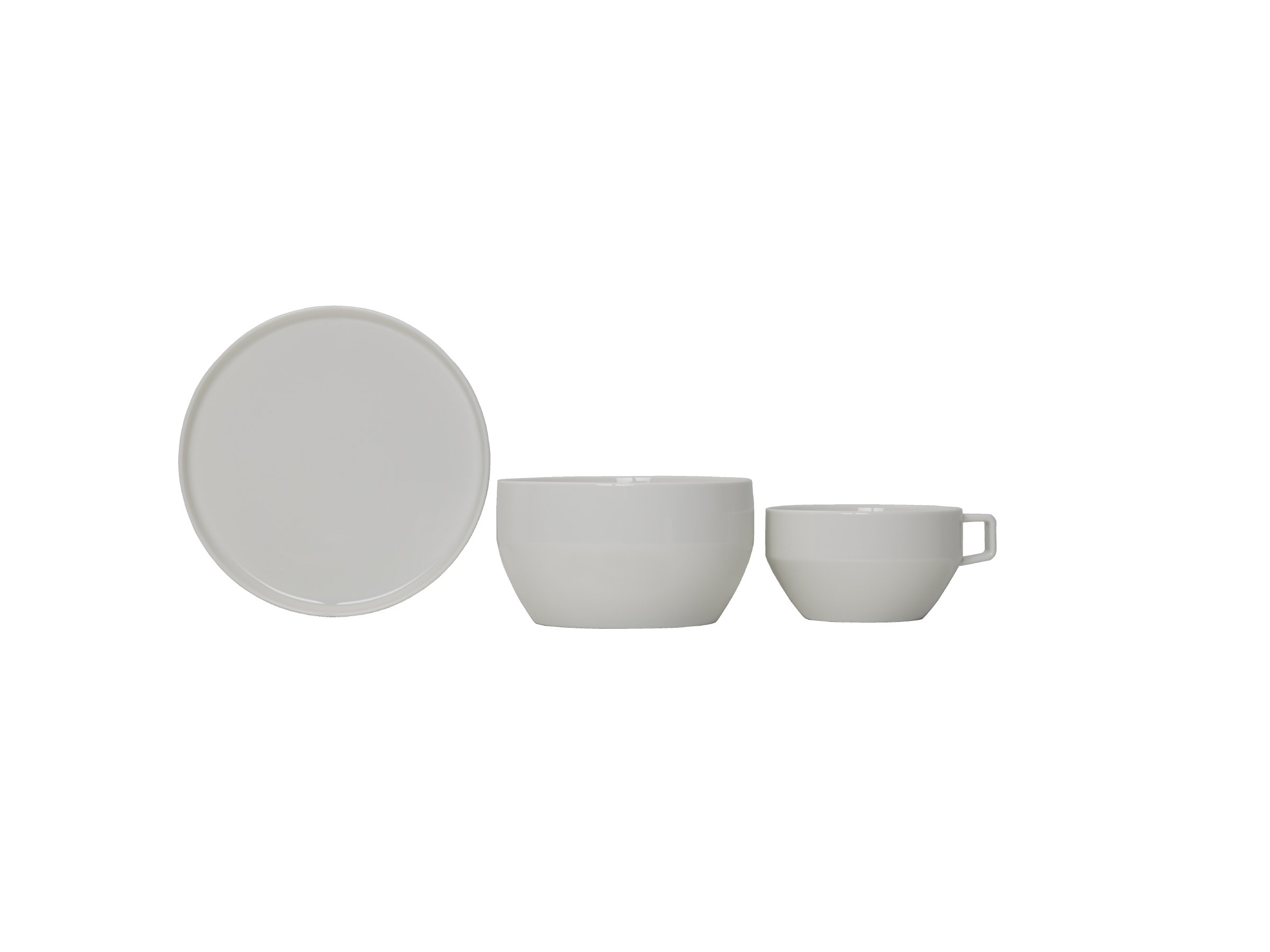 Mikasa Dine3 3-Piece Porcelain Place Setting, White, Service for 1 by Mikasa (Image #4)