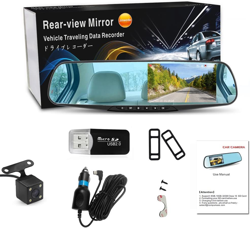 Loop Recording Parking Monitor Cinhent 3.0 inch Dash Cam WDR ...