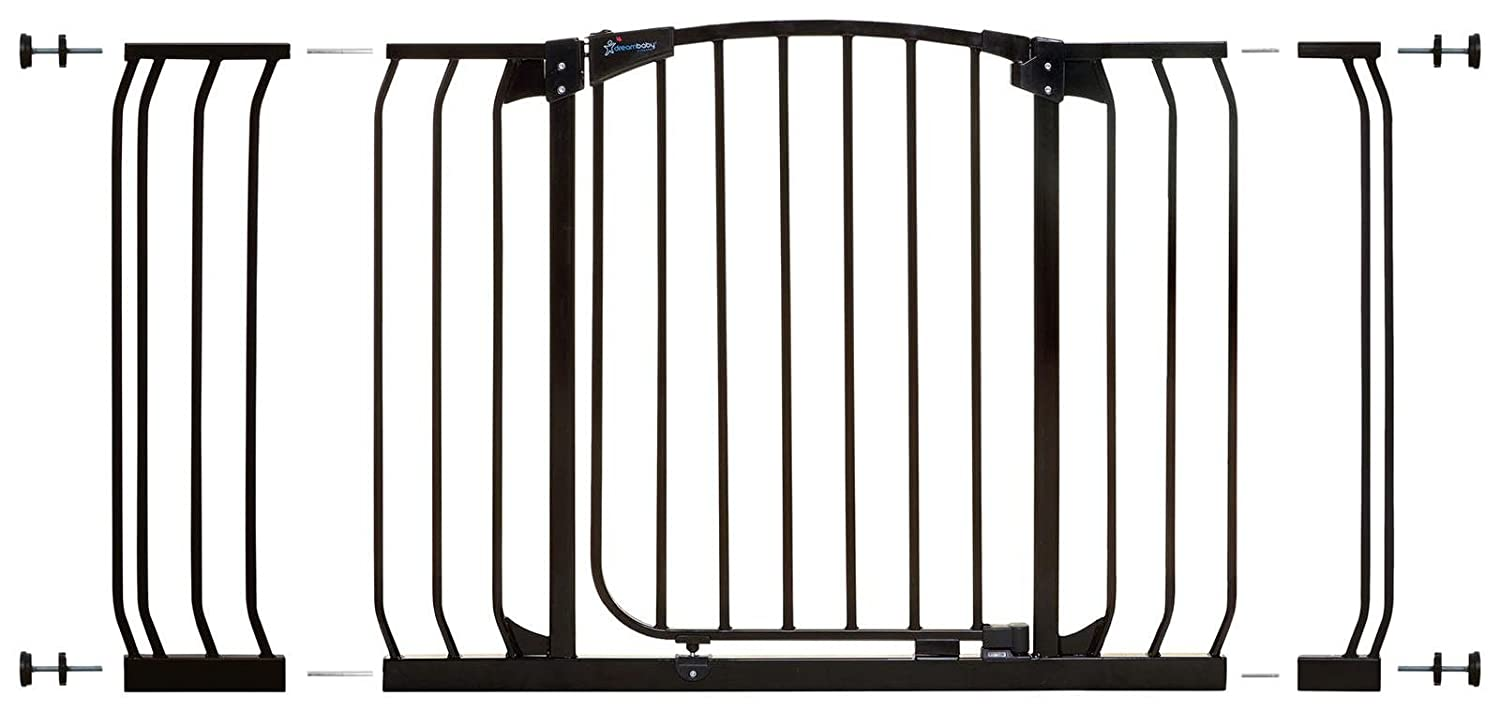 Dreambaby Pressure Mount Hallway Gate with Extensions, Black Tee-Zed Products L790B