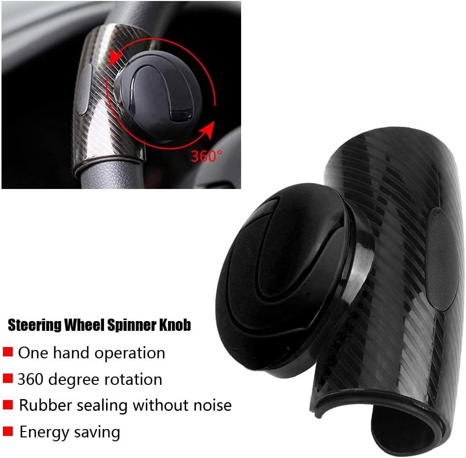 Universal Steering Wheel Booster Black Blue KIMISS Car Steering Wheel Knob Handle Ball black