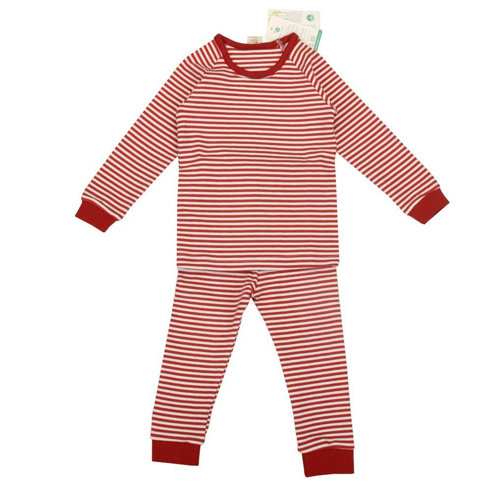 babiesnature bambú rayas pijama manga larga Bebé Niño y Niña Algodón Orgánico rojo rosso Talla:24 meses