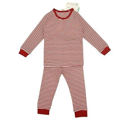 babiesnature bambú rayas pijama manga larga Bebé Niño y Niña Algodón Orgánico rojo rosso Talla: