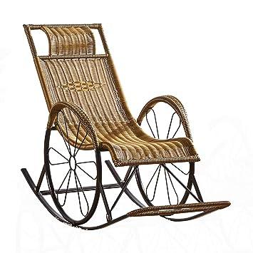 Amazon.com: Tumbona reclinable de ratán para exteriores ...