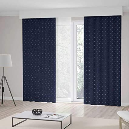 Amazon.com: YOLIYANA Bedroom Curtains,Navy Blue Decor for ...