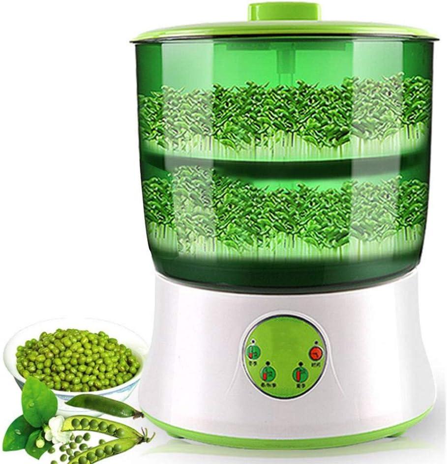 HKMA Brotes de Soja de la máquina, Semilla automática Inteligencia eléctrico Brotes Fabricante de Alimentos saludables Termostato con 2 Capas de Gran Capacidad de Apagado de Memoria