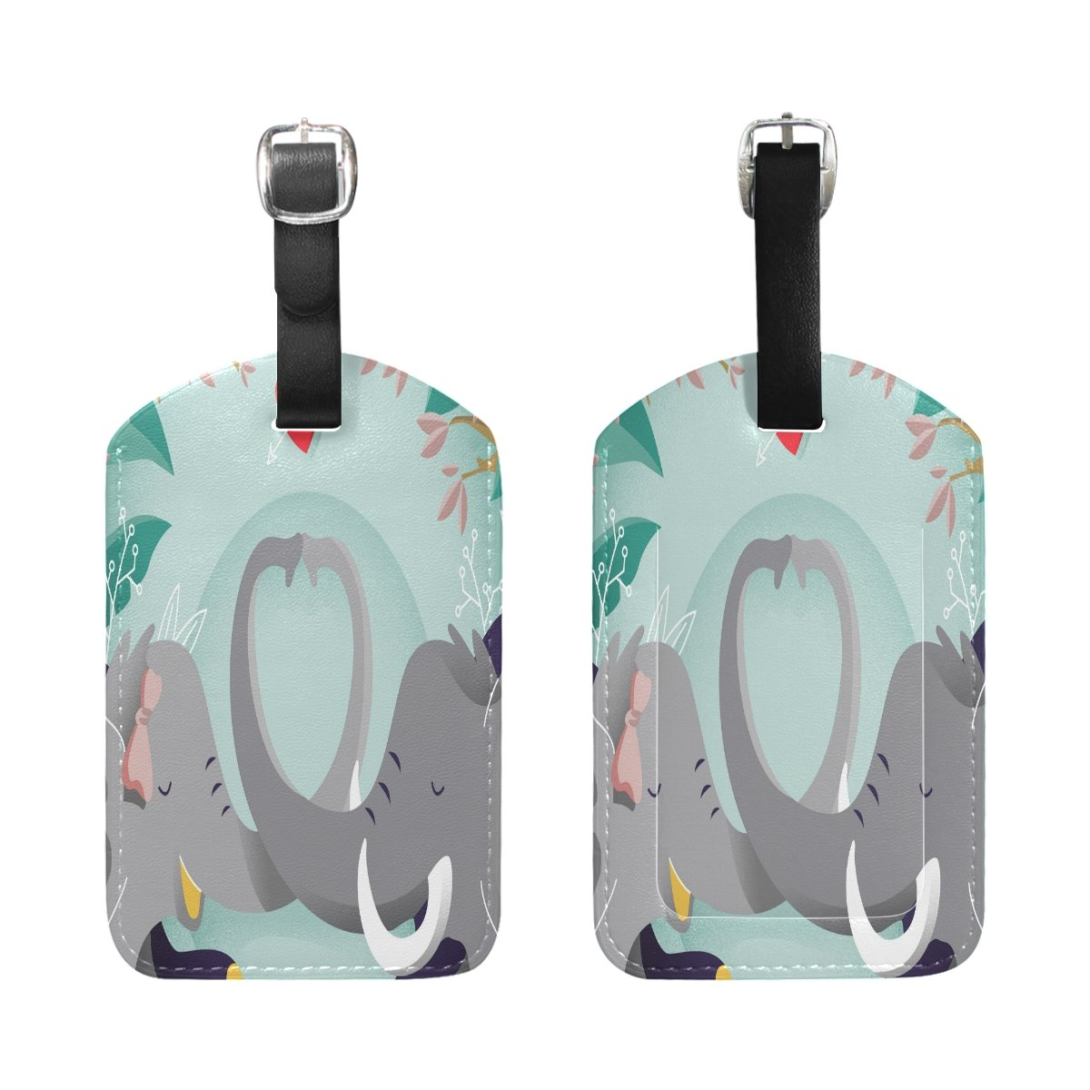 Saobao Travel Luggage Tag Lovely Elephant PU Leather Baggage Suitcase Travel ID Bag Tag 1Pcs