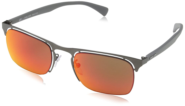 8ebc18edc6 Amazon.com  Police sunglasses S8961 Offside 4627R Metal Grey Grey green  with Petrol mirror effect  Clothing