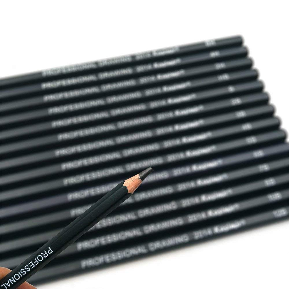 4B 4H 8B 14 Pieces Drawing Pencils 6H 12B 5B 10B HB 2H 6B,7B Sketching Pencils Set 3B 2B B