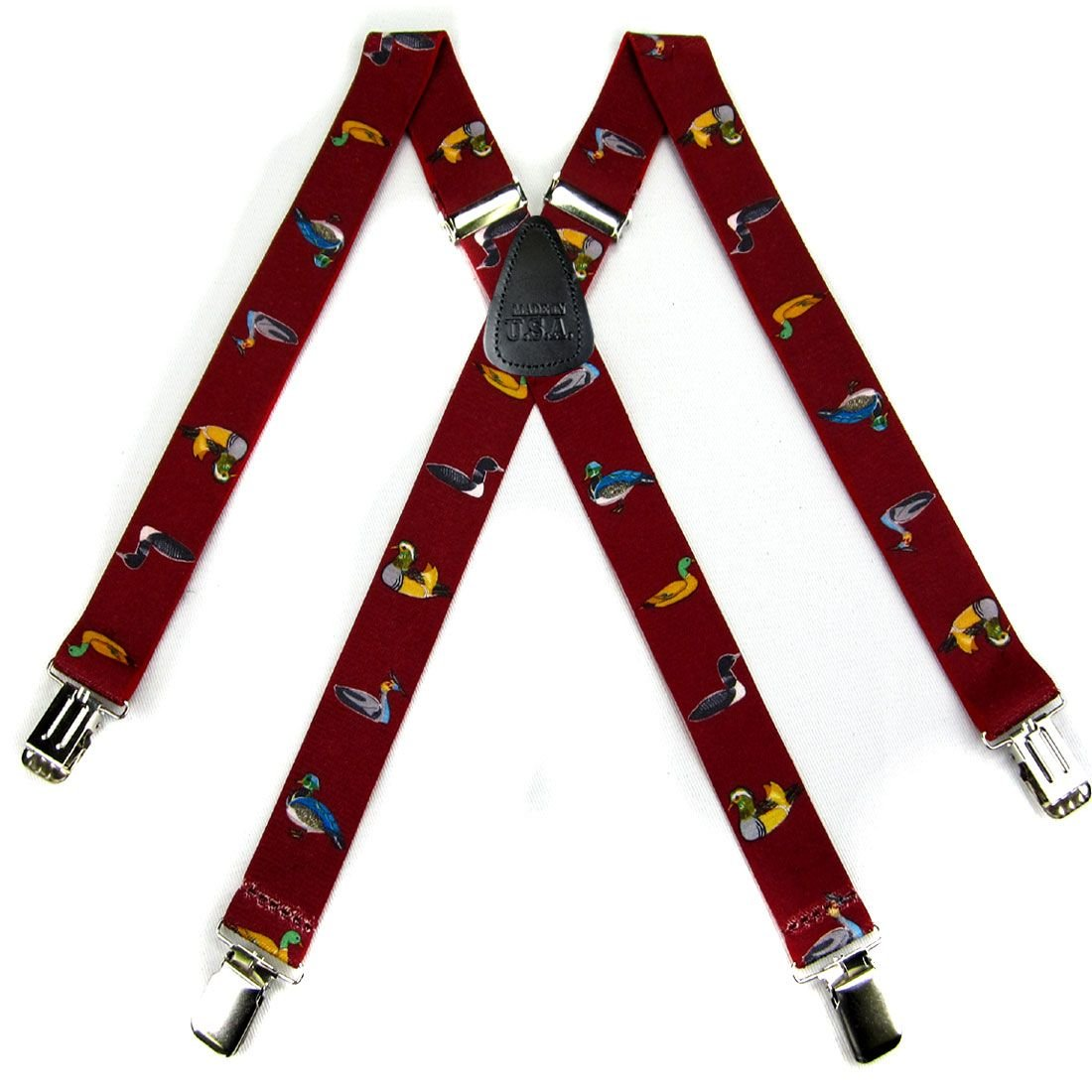 Gold Duck Strong Mens Suspenders Made in the USA Red Green