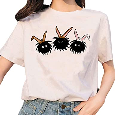 Dorathy Anime Cute Harajuku Cartoon Tumblr T Shirts Korean Teen Girl At Amazon Women S Clothing Store