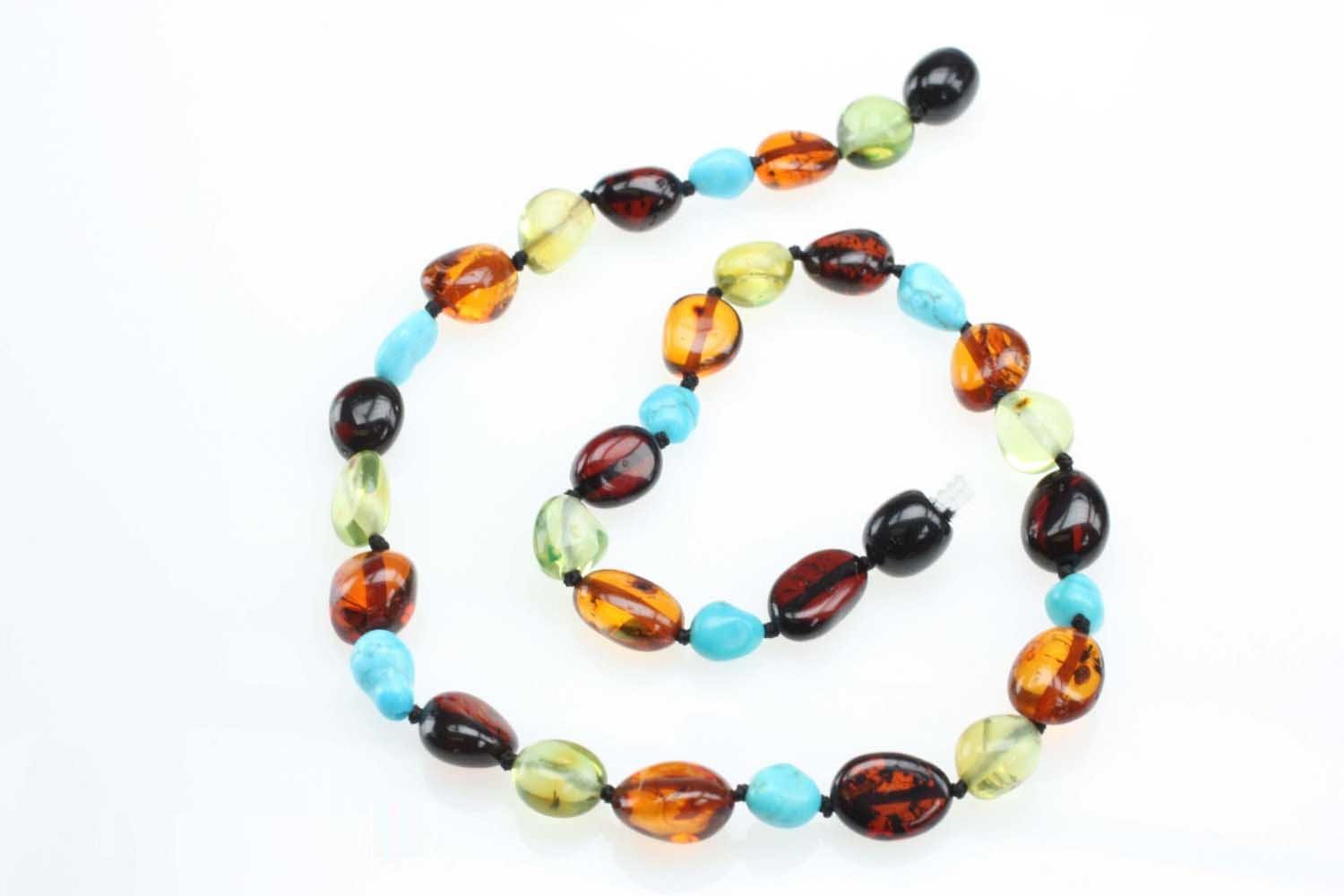 Baby Gifts Amberbeata Multi-color Raw Beauty Certified *100/% Genuine* Raw Baltic Amber Teething Necklace for Baby