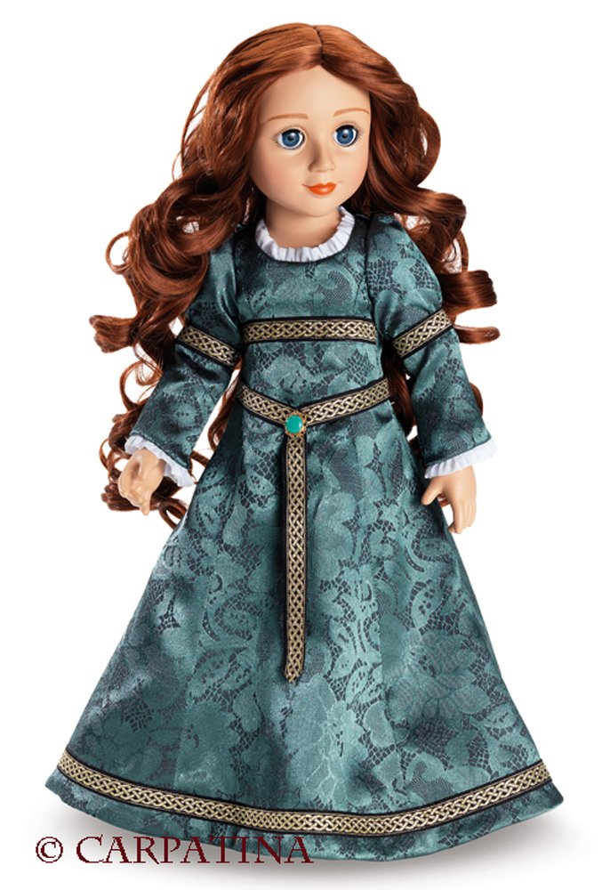 Rowena - Celtic Princess 18 inch Vinyl Slim Doll by CARPATINA