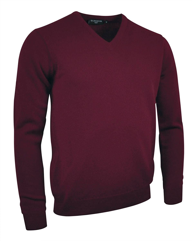 Glenmuir Lomond V Neck Lambswool Sweater Charcoal