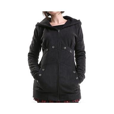 a5d09abc2ff2 Poizen Industries Schwarzes Sweatshirt mit Kapuze - S  Amazon.de ...