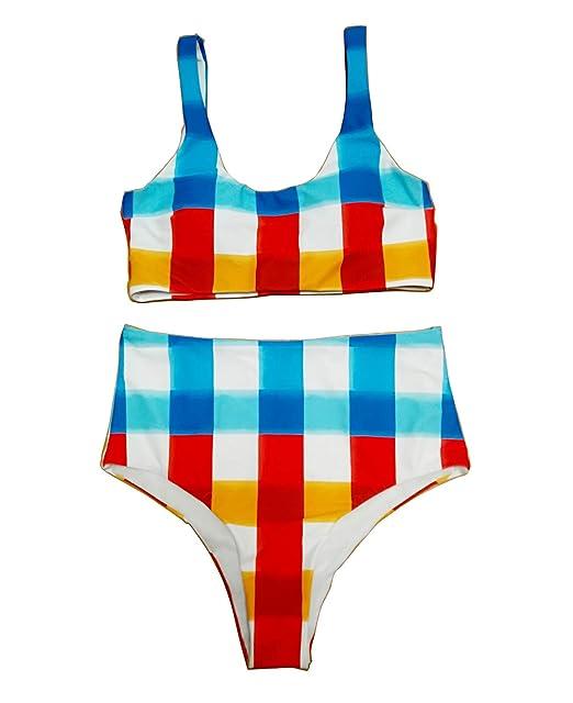 Amazon.com: Trajes de baño de cintura alta para mujer: Clothing