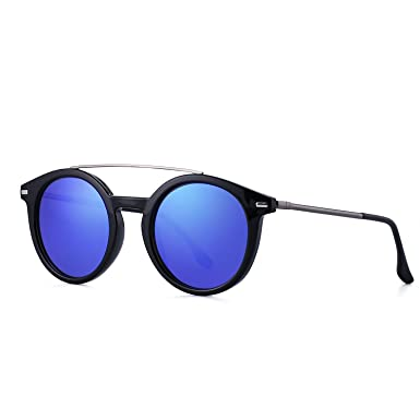 35b014a2a Image Unavailable. Image not available for. Color: Retro Round Polarized  Sunglasses for Women Men New Style ...