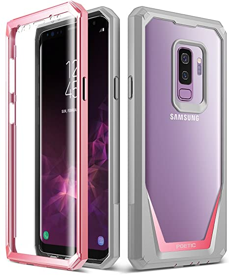 new product c7a2d cd434 Galaxy S9 Plus Case, Poetic Guardian [Scratch Resistant Back] [360 Degree  Protection] Full-Body Rugged Clear Hybrid Bumper Case with Built-in-Screen  ...