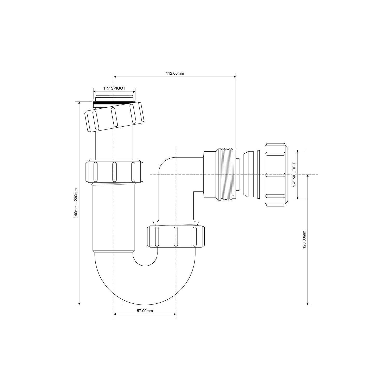 Paquete De 1 Bulk Hardware BH02918 Residuos Compresi/ón Reductor 40 Mm A 32 Mm