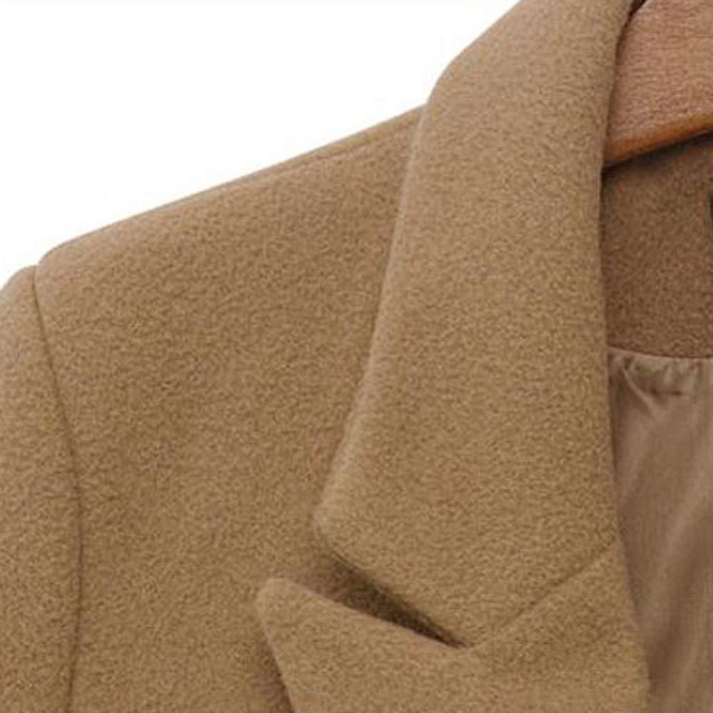 Womens Winter Lapel Wool Coat Trench Jacket Long Parka Overcoat Outwear QYM Womens Jackets