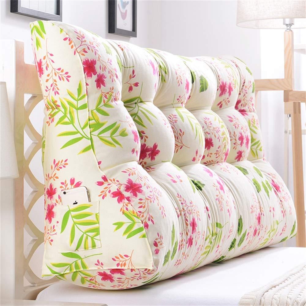 GLP ベッドサイドクッション三角背もたれ腰のソファ大きな枕張りパッド22色&8サイズで取り外し可能 (Color : T, Size : 120x30x60cm) B07S3PL7RP