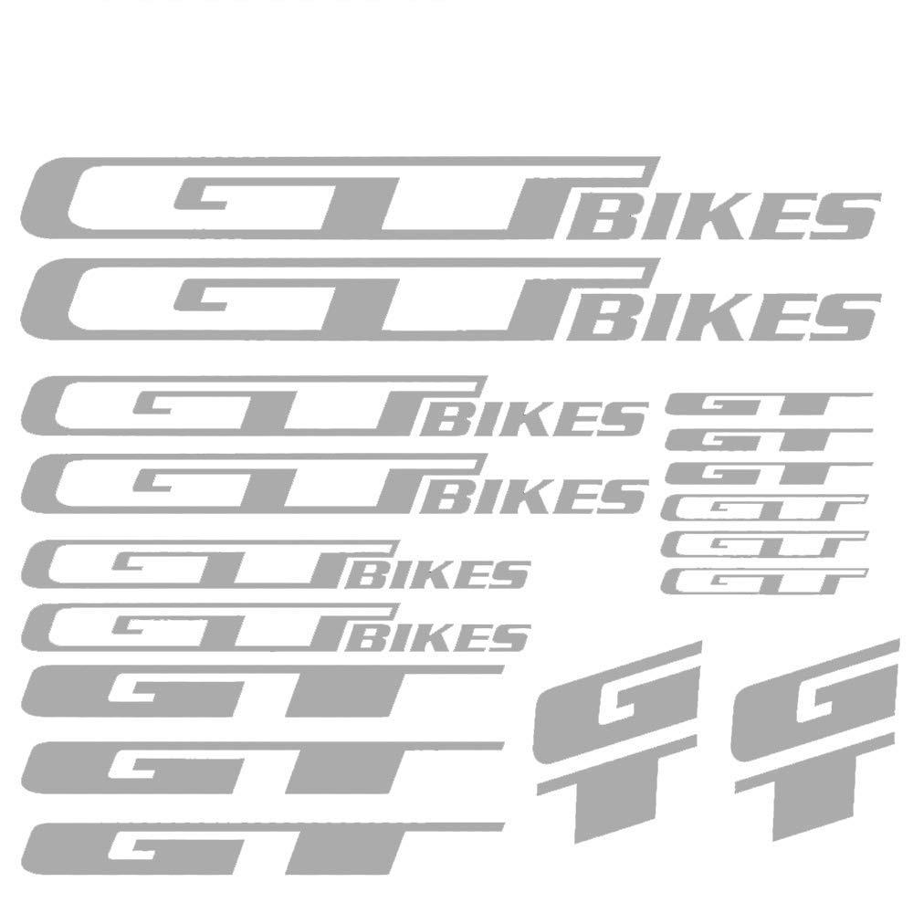 GT BIKES Vinyl Die-Cut Sticker Kit Decal Funny JDM Logo Frame MTB BMX Race Road car sticker car styling decorative car sticke car body sticker BLUE