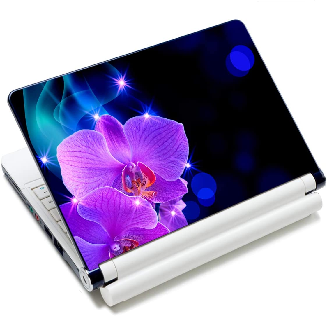 Laptop Notebook Skin Sticker Cover Decal Fits 12 13 13.3 14 15 15.4 15.6 inch Laptop Protector Notebook PC | Easy to Apply, Remove and Change Styles (Phalaenopsis)