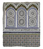 Chaoran 1 Fleece Blanket on Amazon Super Silky Soft All Season Super Plush Arabian Decor etNostalgic Moroccan Architecture withtone Carving Motifs Majestic Ottoman Empire Artsy Accessories Extra