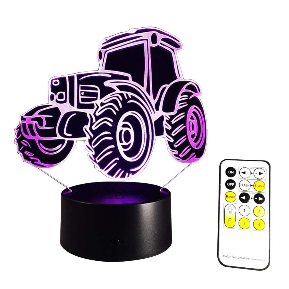 Novelty Lamp, 3D LED Illusion Table Lamp 7 Colors Change Night Light for Bedroom Home Decoration Wedding Birthday Christmas Valentine with Romote Control,Ambient Light