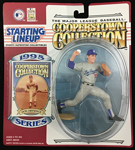 1995 KENNER STARTING LINEUP COOPERSTOWN COLLETION DON DRYSDALE LOS ANGELES DODGERS MOC (Cooperstown Memorabilia)