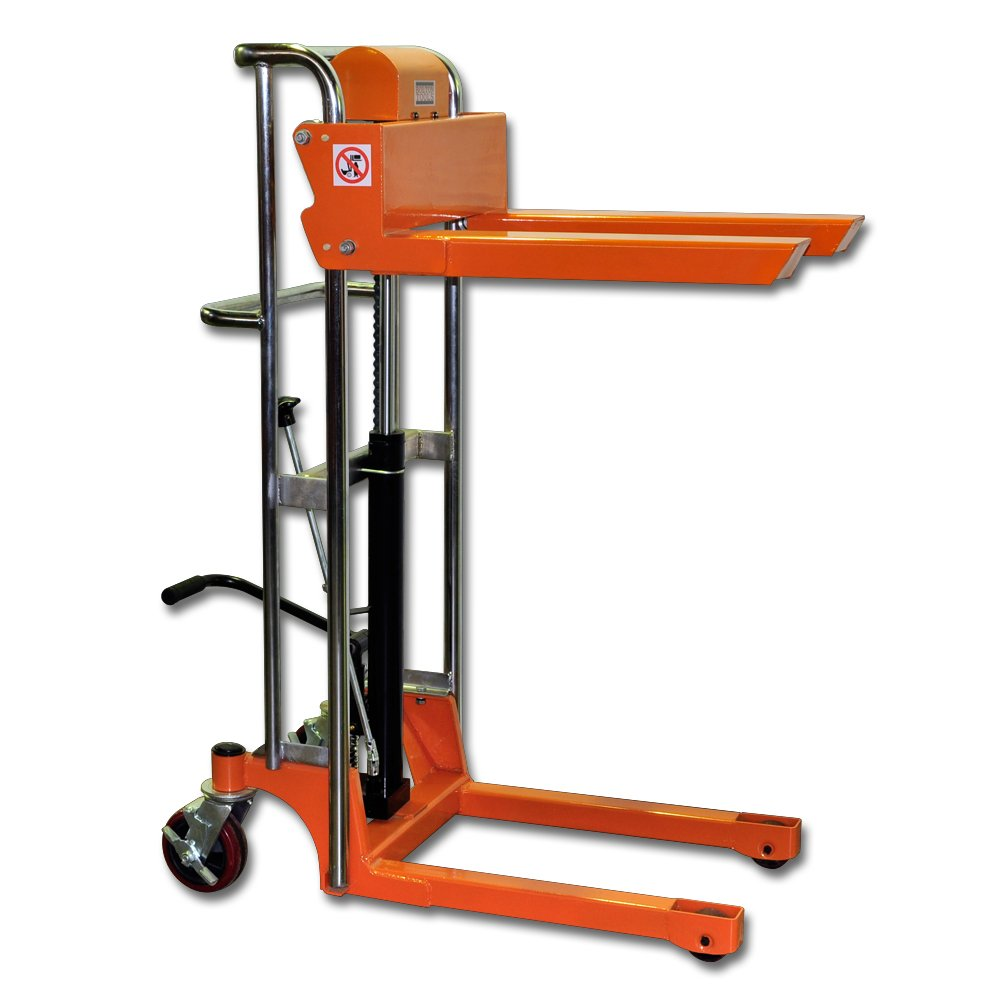 Bolton Tools New Foot Operated Pallet Lift Stacker Forklift Truck - 880 LB of Capacity - 43.3'' Max Height - Model TF40-11