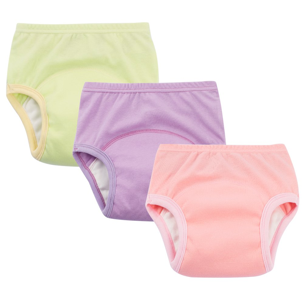 Baby Boys Potty Training Pants Cotton Interlining Underwear Toddler 3-Pack, 4T KidsStyle