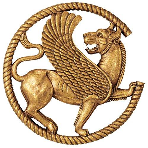 Design Toscano Persian Griffin Wall Sculpture, Antique Gold